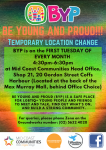 Young and Proud change of venue poster
