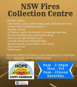 Hope For the Homeless donation drive poster\